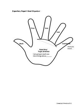 Writing Organizer Hands