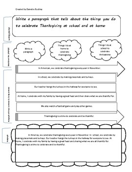 Writing Organizer & Lesson Plan