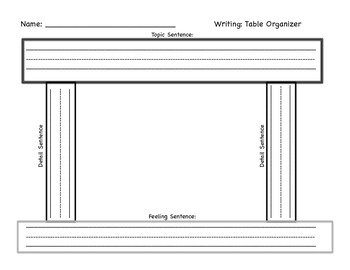 Writing Organizer: Table Top