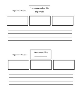 Writing Organizer with Lead Practice 2