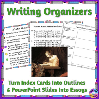Writing Organizers Turn Index Cards & PowerPoint Slides into Outlines & Essays