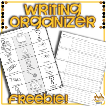 Writing Organizers for Any Prompt with Picture Cues 3rd 4th and 5th Grade