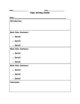 Writing Outline
