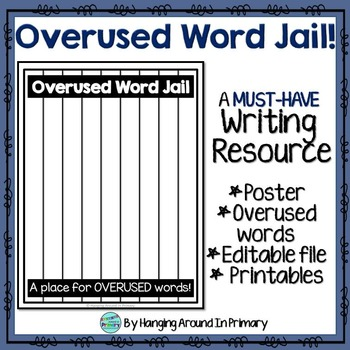 Overused Words Jail - A Writing Bulletin Board/Resource