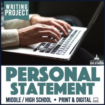 Writing PBL Project: Personal Statement Narrative Essay