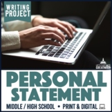Writing PBL Project: Personal Statement Narrative Essay