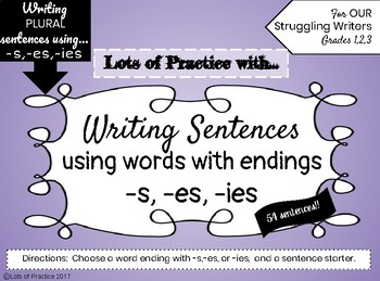 Writing PLURAL Sentences for Struggling Writers