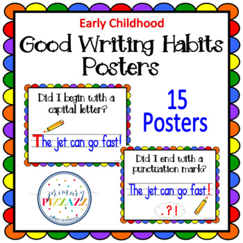 Writing POSTERS for Writing Sentences - Rainbow Scallop