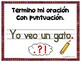Writing POSTERS for Writing Sentences --- SPANISH