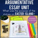 Argumentative Essay Writing Unit   Texts Notes Interactive Notebook Foldables