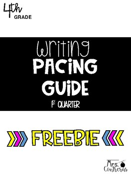 Writing Pacing Guide Worksheets & Teaching Resources | TpT