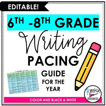 Writing Pacing Guide for Middle School