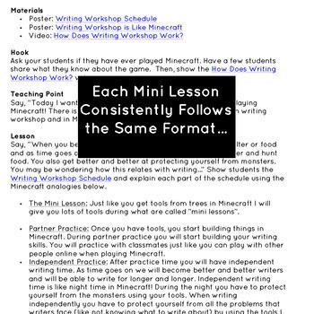 Writing Workshop Mini Lessons