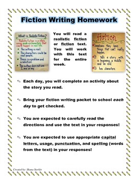 Writing Packet  - Fiction Sequel Writing