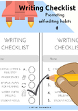 Writing Checklist to promote self-editing habits
