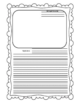 Writing Page with Picture Box