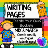 Writing Template Pages Create-Your-Own Writing Booklets