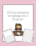 Writing Pages-DIFFERENTIATED