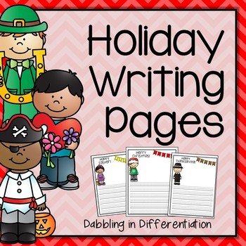 Writing Pages - Holiday