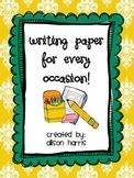 Writing Pages for Every Occasion