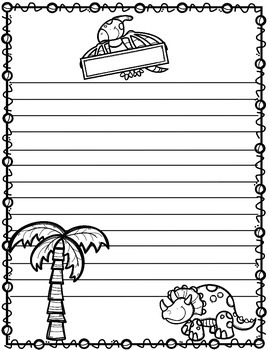 Writing Pages for Every topic Print and Go:  1-3rd grade