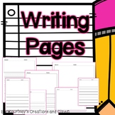 Blank Writing Pages for Journals or Writer's Workshop Differentiated