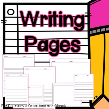 Writing Pages for Journals {Kindergarten & First Grade}
