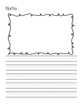 Writing Pages with Frames for Pictures and Kindergarten Lines! {Pack One}