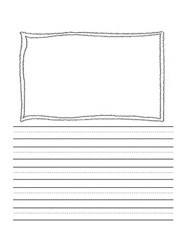 Writing Pages with Frames for Pictures and Kindergarten Li