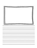 Writing Pages with Frames for Pictures and Kindergarten Lines! {Pack Three}