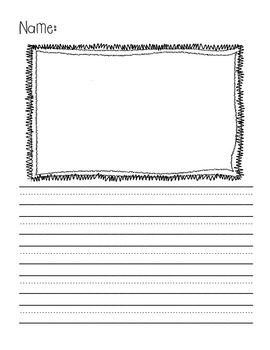 Writing Pages with Frames for Pictures and Kindergarten Lines! {Pack Two}
