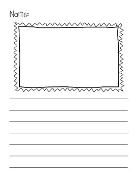 Writing Pages with Frames for Pictures and Lines! {Pack One}