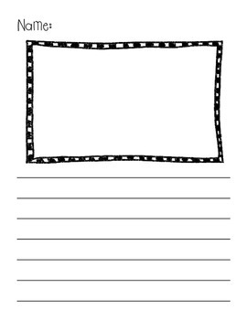 Writing Pages with Frames for Pictures and Lines! {Pack Three}