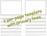 Writing Pages (with/ without primary lines)