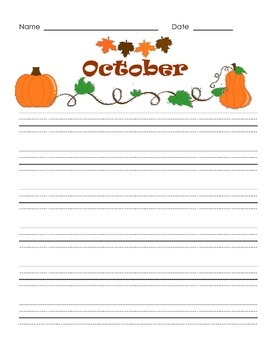 Writing Paper Set for Each Month - Triple Lines for Print or Cursive
