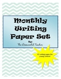 Writing Paper Set for Each Month - Triple Lines for Print