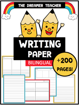 Writing Paper. +200 templates! English and Spanish