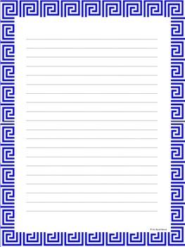 Geometric Writing Paper