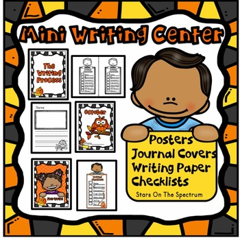 Mini Writing Center * October * Posters, Checklists, Writing Paper