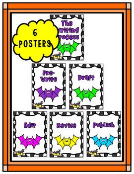 Bats * Mini Writing Center Kindergarten * Halloween