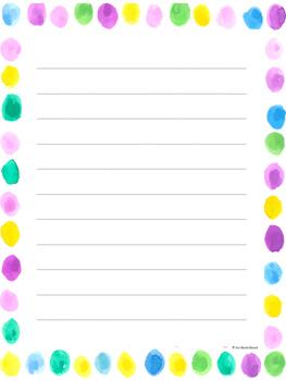 Watercolors Writing Paper