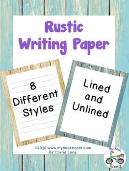 Rustic Writing Paper