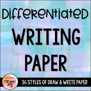 Writing Paper - 36 Different Templates!