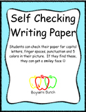 Self Checking Writing Paper
