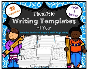 Writing Paper, Handwriting {26 Thematic Templates for All Year}