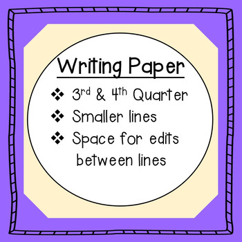 Writing Paper: with smaller primary lines and editing space between lines