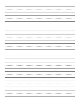 Writing Paper (4 different sizes & 4 pages with picture space)