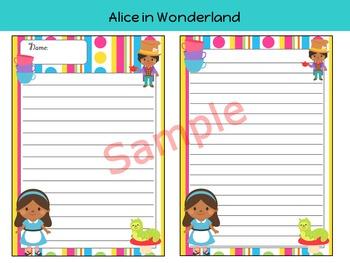 Writing Paper : Alice in Wonderland - African American