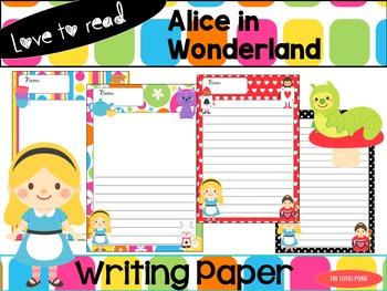 Writing Paper : Alice in Wonderland - Love to Read Series