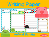 Writing Paper : Animal Buddies : Primary Lines